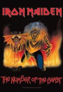 FLAG IRON MAIDEN - NUMBER OF THE BEAST 82/83 (REF. HFL876)