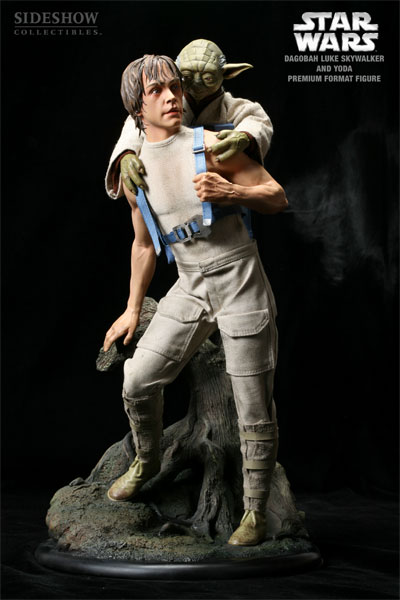 LUKE AND YODA - DAGOBAH TRAINING- STATUE PREMIUM FORMAT
