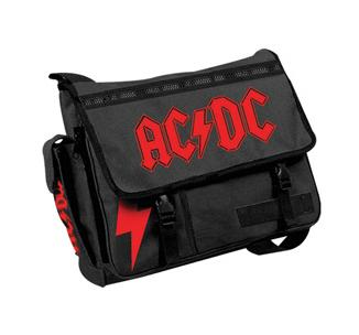MESSENGER BAG ACDC RED LOGO