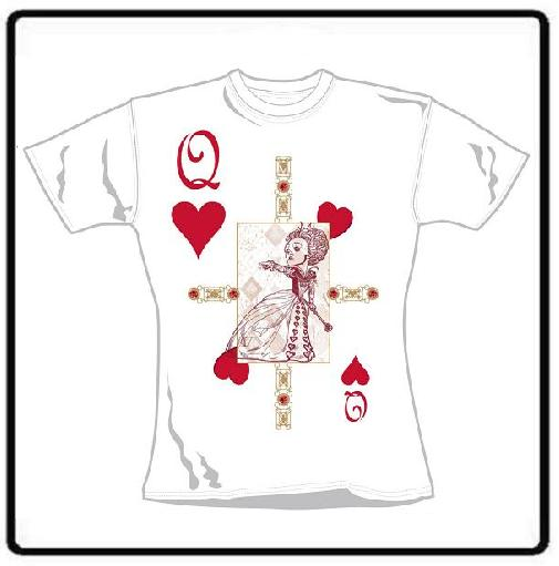 RED QUEEN CARD GIRLIE T SHIRT