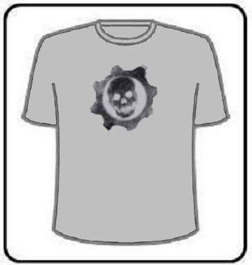 GEARS OF WAR BLACK LOGO T SHIRT