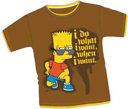 BART SIMPSON 'I DO WHAT I WANT...' T SHIRT