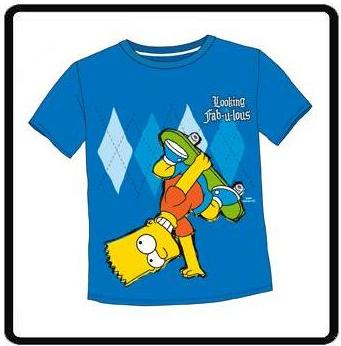 NEN BART SIMPSON LOOKING FAB-U-LOUS TSHIRT