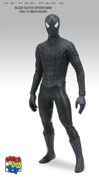 MARVEL RAH SPIDERMAN - BLACK COSTUME - FIGURE 12 INCHES SPIDERMAN 3