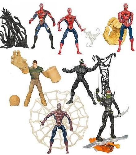 PACK 7 FIGURES (SERIE 3) SPIDERMAN 3