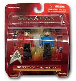 MINIMATES SCOTTY & DR.McCOY FIGURES (SERIE 1)