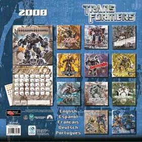 TRANSFORMERS CALENDAR 2008